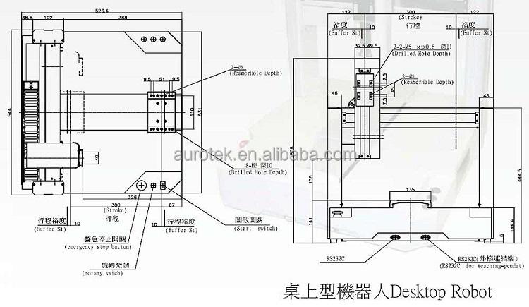 3 Axis Industrial Desktop Robot Arm For Dispensing Machine