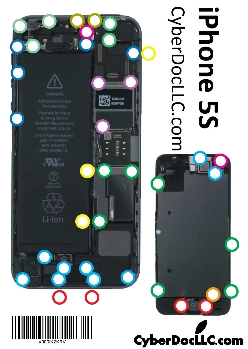 iphone 4 screw layout diagram 2003 honda civic alternator wiring buy 5s cyberdoc mmagnetic chart mat for llc usa