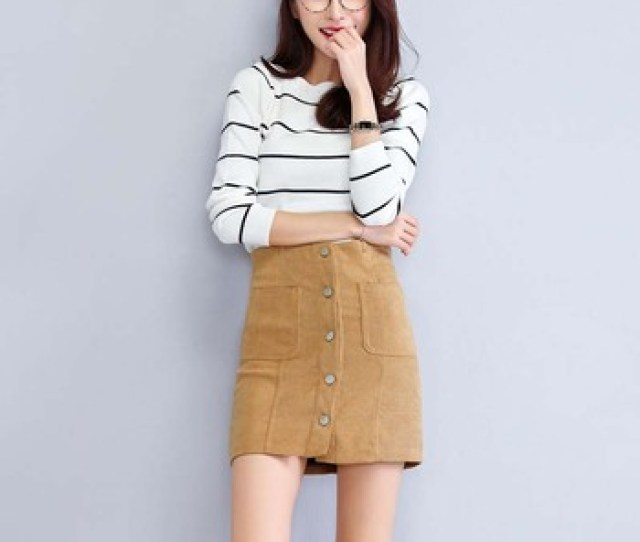 W11215 Faux Suede Girls Short Skirt Tall Waist A Line Lady Skirts Sexy Skirts