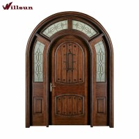 Traditional Indian Kerala Arch Wrought Iron Wooden Main