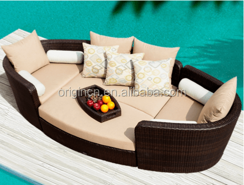 gray chair and ottoman slipcovers indoor swing chairs useful 2 in 1 boat shaped outdoor sectional sun lounger sofa plastic wicker woven patio ...
