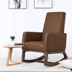 Rocking Chair With Footrest India Wicker Cushions Clearance Cheap Relax Find Deals On Line At Get Quotations Homedex Fabric Morden Upholstered Espresso