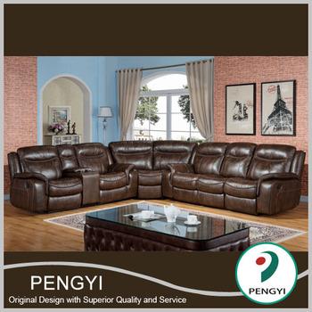 Ergonomic Living Room Furniture Leather Recliner Sofa