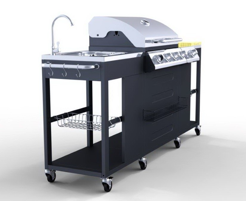 4  1 Bruciatori in acciaio inox grande cucina esterna barbecue grill a gasimmagineGriglia del