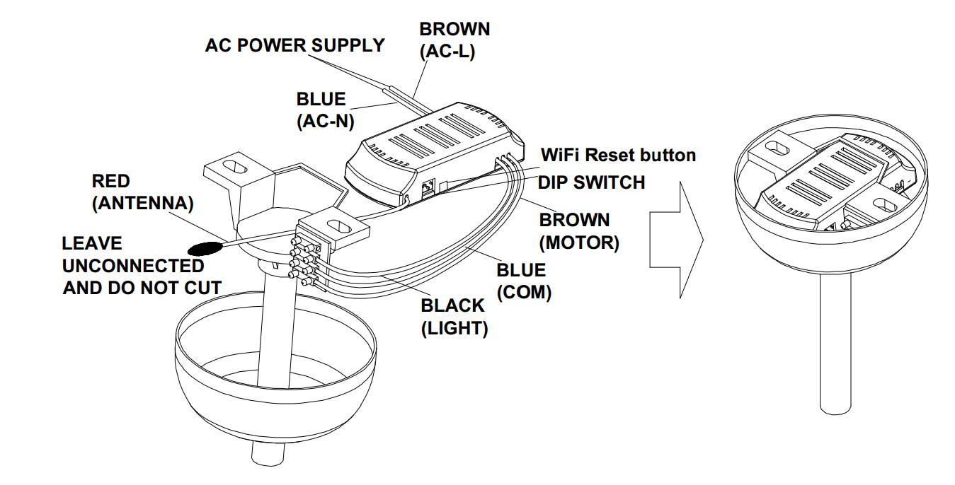 Tuya Available Wifi Ceiling Fan Remote Control Kit With