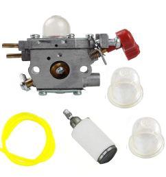 get quotations savior carburetor c1u p27 primer bulb fuel line filter for troy bilt tb2044xp tb2mb [ 1000 x 1000 Pixel ]
