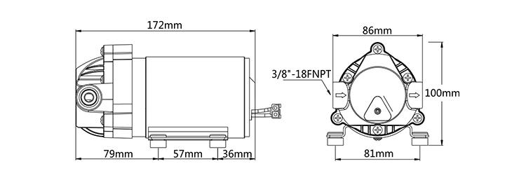 Seaflo 24v Dc 400 Gpd 130 Psi Ro High Pressure Booster