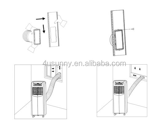 Portable R410A Air conditioner, Home Air Conditioner