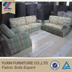 Chesterfield Style Fabric Sofa Italian Modern Leather Special Design Country Flower Sectional Set
