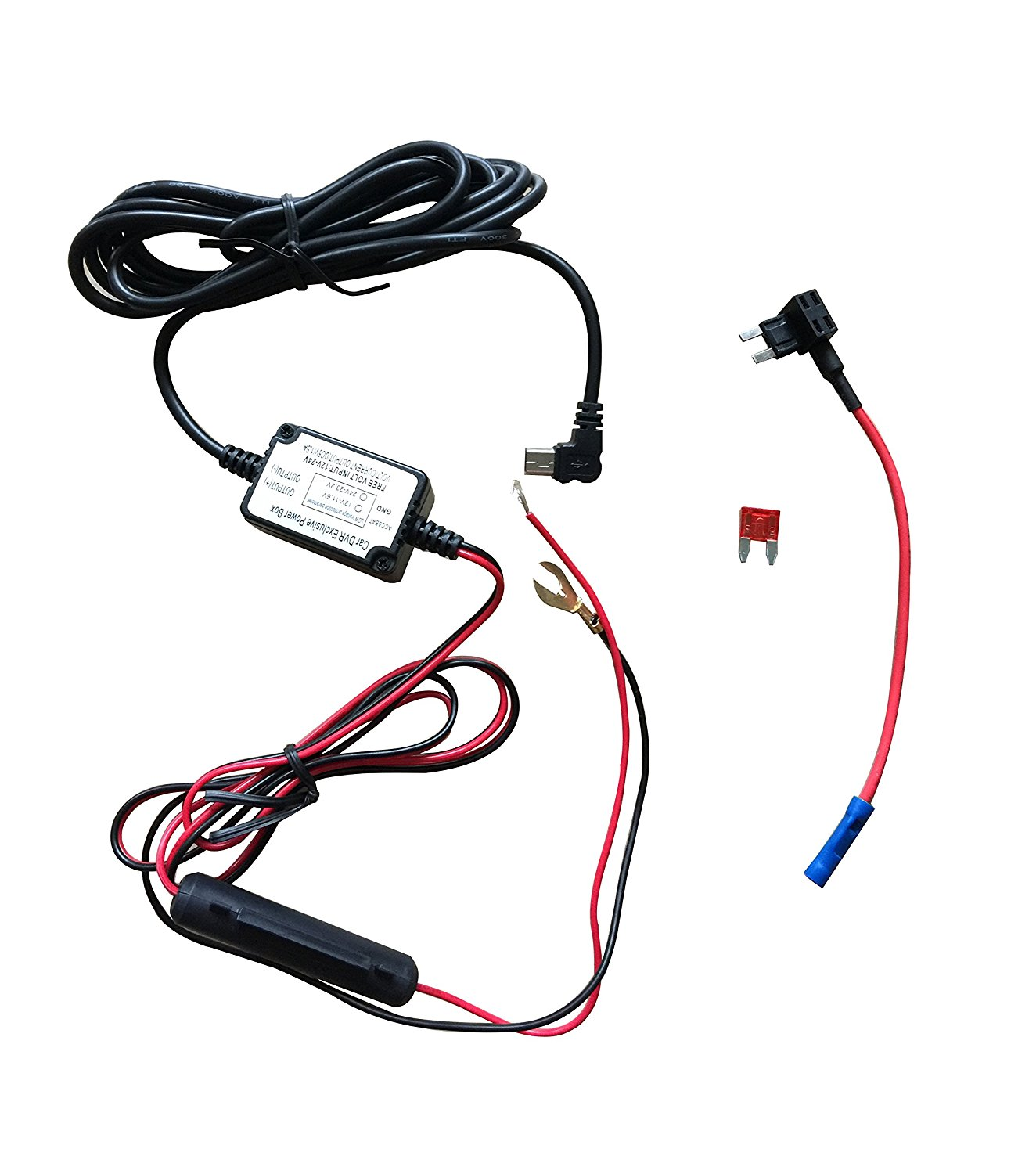 hight resolution of get quotations dash camera hard wire kit mini usb dash cam 10 foot hardwire and fuse kit