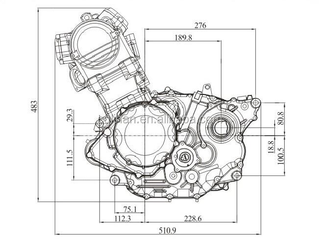 Water Cooled Ly350 Zongshen 350cc Atv Engine With Reverse
