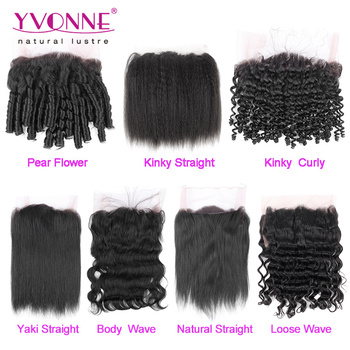 large stock different types of curly weave hair brazilian lace frontal with 360 lace band