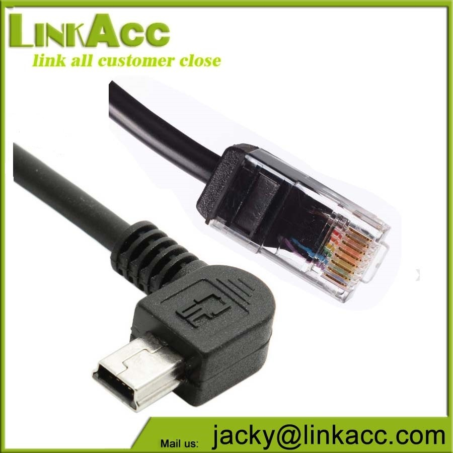 medium resolution of right angle mini usb wiring adapter b header connector to cat5e rj45 rca cable