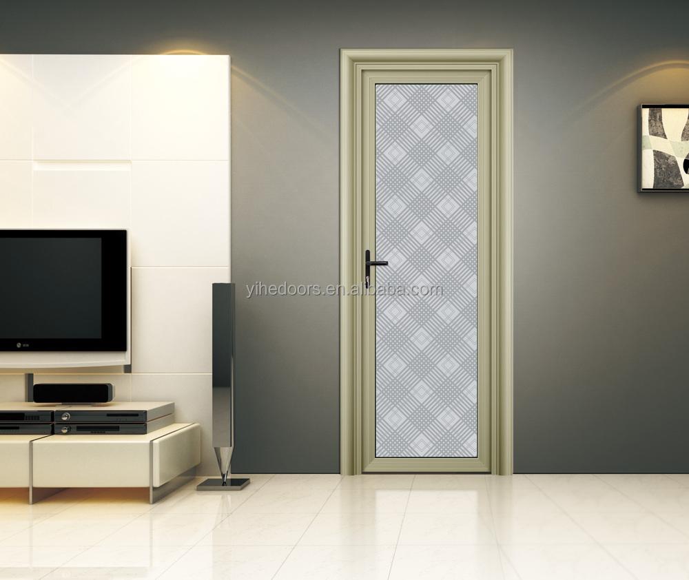 Modern Interior Frosted Glass Bathroom Dooraluminium Door