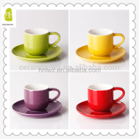 Cheap Small Coffee Cup And Saucer Set Glazed Wholesale In ...