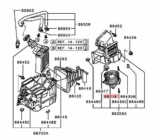 diagram motor fan mitsubishi