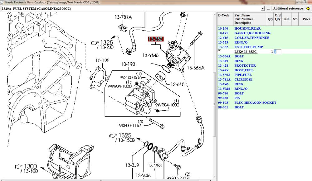 medium resolution of high pressure fuel pump l3k9 13 35zc l3k9 20 3f0 for mazda