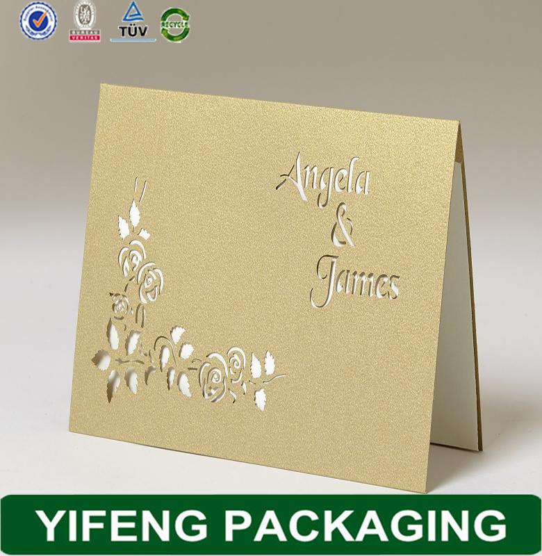 Guangzhou Factory Handmade Wedding Invitation Cardunique
