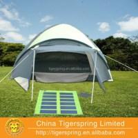 Orange Solar Tent For Sale With Detachable Solar Panel