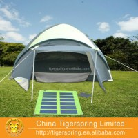 Orange Solar Tent For Sale With Detachable Solar Panel ...