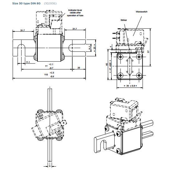 690v 200 Amp Fuse Price Thermal Pc30ud69v200a Ferraz