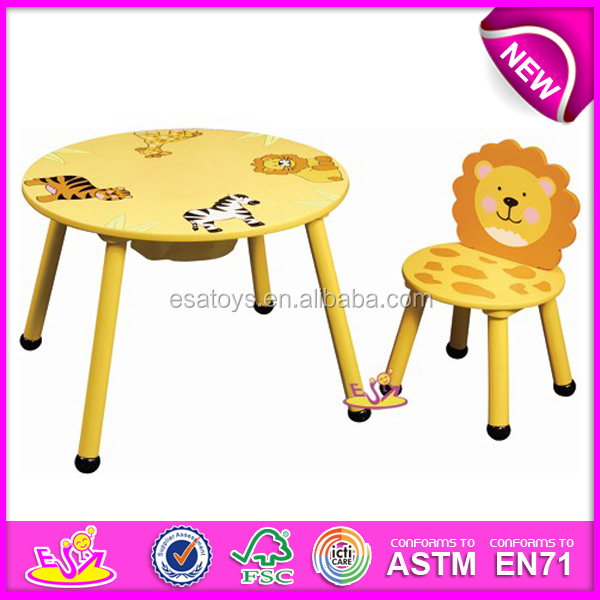 kids wooden table and chair set portable chairs kmart cheap round shape small stool for children