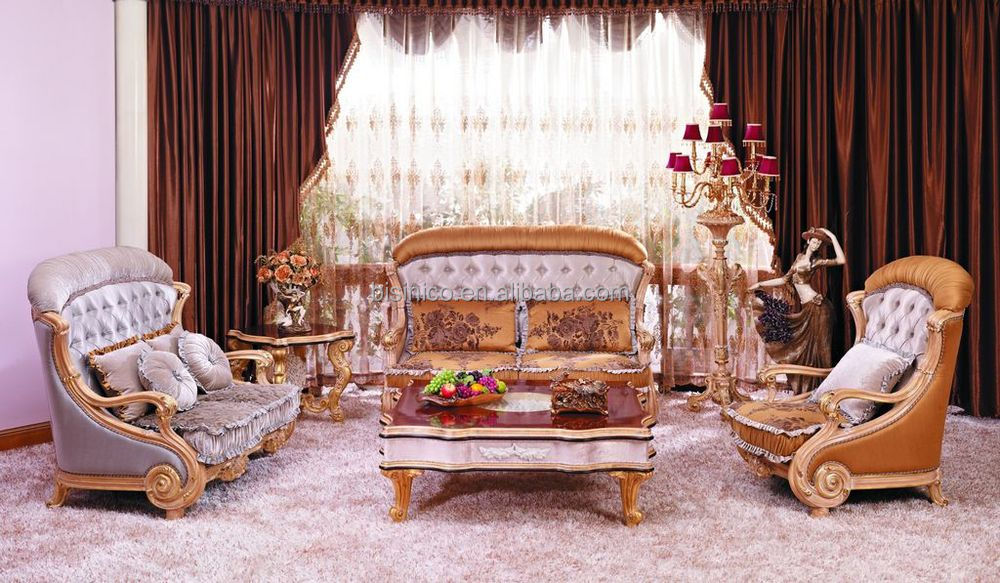 beige sofa set bunk beds nz luxury european victorian style living room fancy palace wood carving tufted button