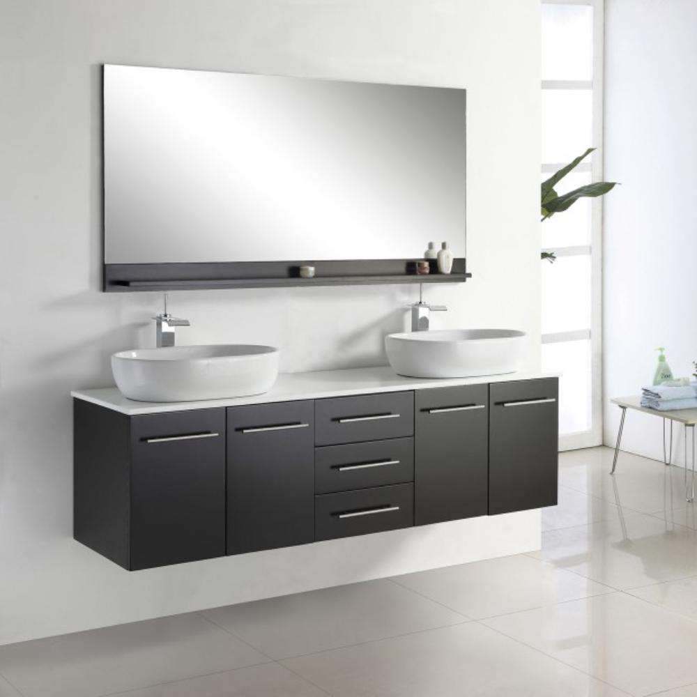 Wall Mounted Bathroom Vanity Double Sink. modern wall