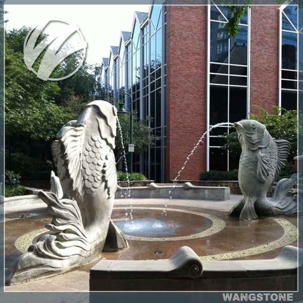 Fish Water Fountain Modern Stone Sculpture
