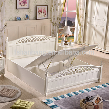 2016 Latest Storage Bed Furniture Wooden Double Bed