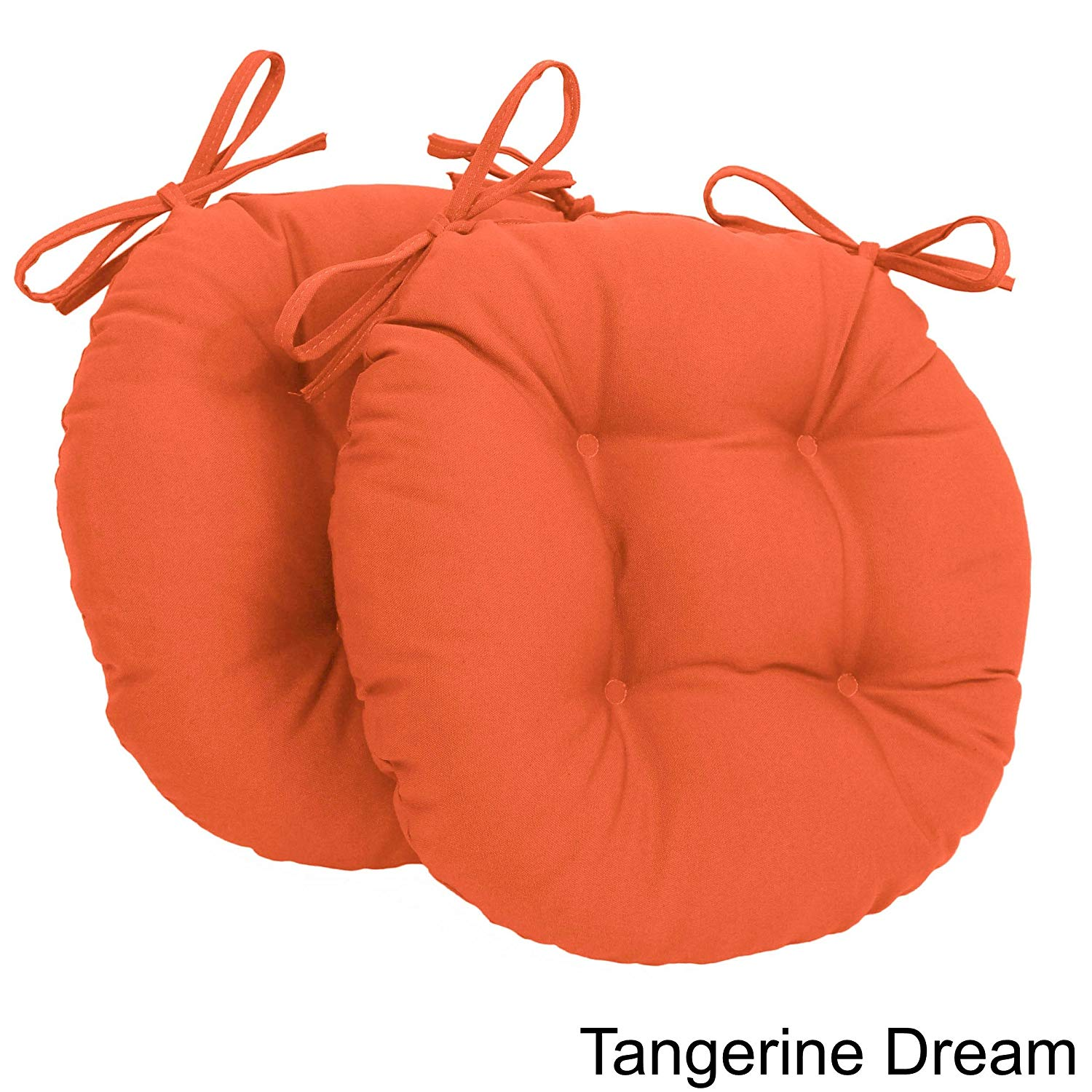16 round chair cushions bamboo papasan cheap find deals on get quotations blazing needles tufted twill tangerine