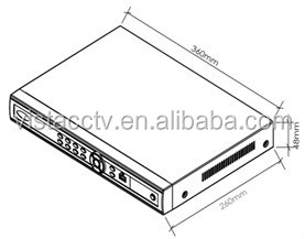 Manufacturer Competitive Price 4ch Nvr H.264 Network
