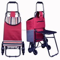 Cheap Price Fashion Shopping Trolley Bag With Seat Trolley ...