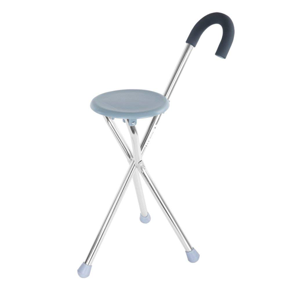walking stick chair hag capisco puls review cheap cane stool find deals get quotations liulife with seat foldable portable crutches for