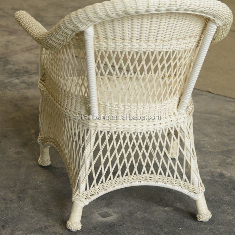 White All Weather Outdoor Indoor Garden Lowes Resin PVC Poly Rattan Wicker Patio Furniture Love