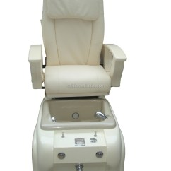 Massage Pedicure Chair Circle Name 2016 Used Spa White Leather Cover Foot Similar To T4 Style