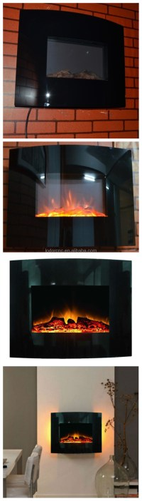 Master Flame Wall Hanging Fireplace With Backlight ...