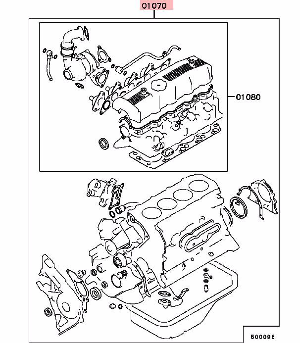 Revisión Del Motor Junta Kit Para Mitsubishi Triton L200