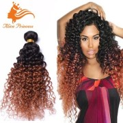3pcs two tone kinky curly hair