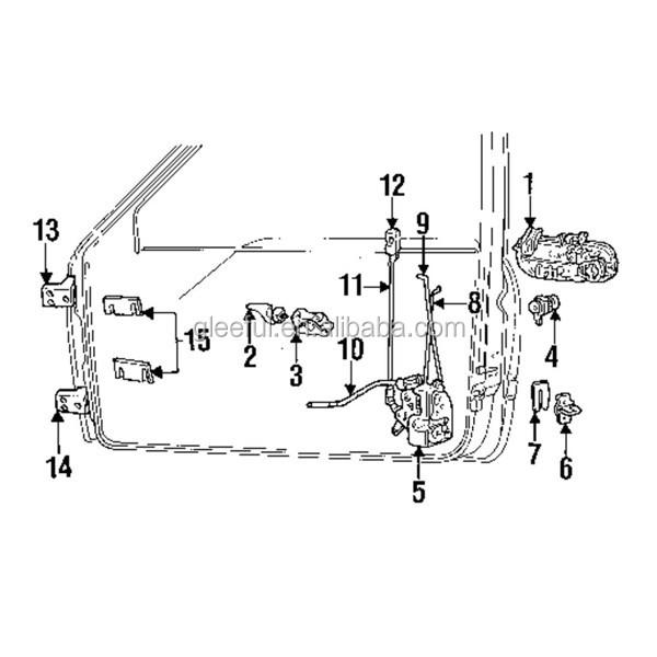 55076291ab Door Lock Actuator Motor For Dodge Ram 1500