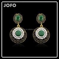 New Style Bohemia Fashion Drop Long Earring Clear&green ...