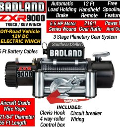 get quotations badland 9000 lb off road electric winch [ 1280 x 1280 Pixel ]
