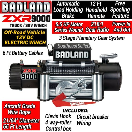 small resolution of get quotations badland 9000 lb off road electric winch