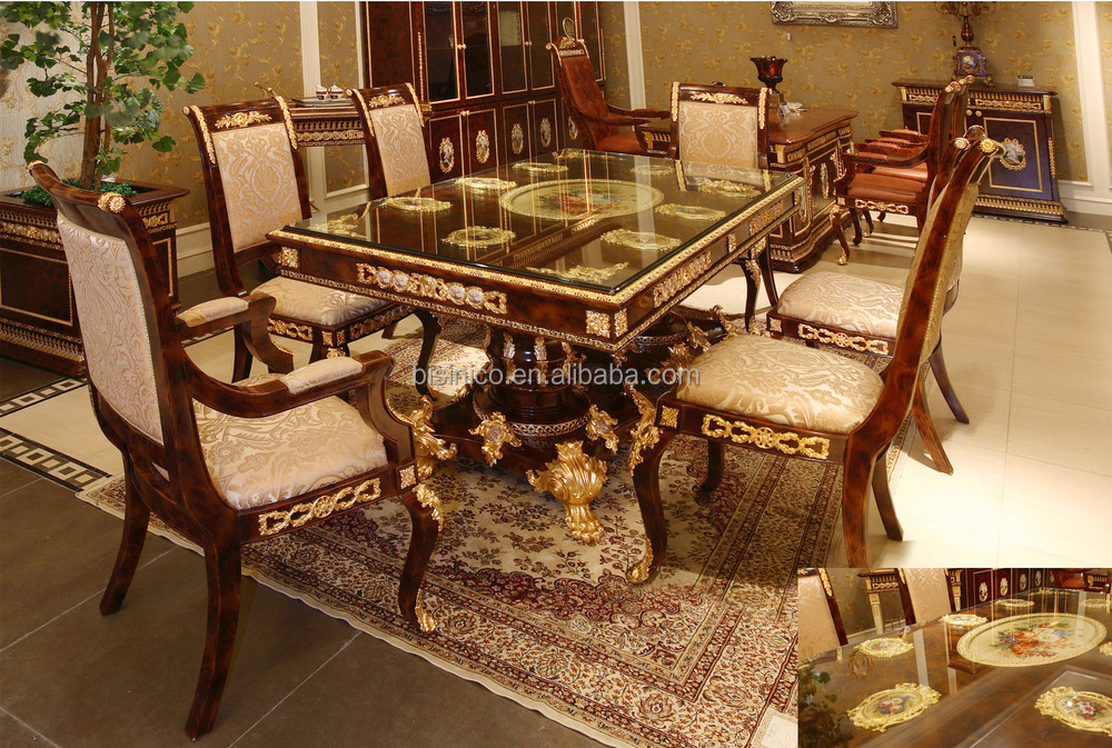 antique french dining table and chairs room chair styles luxury rococo style angel set palace wood carved hand painted