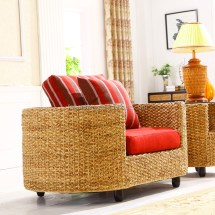 Contemporary Style Indoor Natural Rattan Seagrass Water