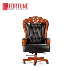 Office Chair Base Stool With Arms Chinese King Dragon Executive Wooden Throne Foha