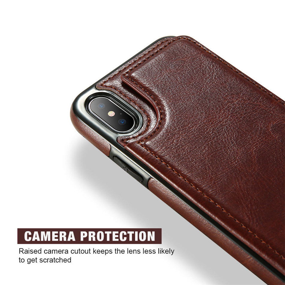 HTB1d4nQgN6I8KJjSszfq6yZVXXaw KISSCASE Retro PU Leather Case For iPhone X 6 6s 7 8 Plus XS 5S Multi Card Holder Phone Cases For iPhone XS XR 11 Pro Max Cover