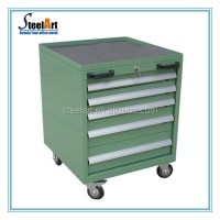 5 Drawers Metal Tool Storage Cabinet On Wheels