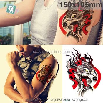 Sc911tribales Tatuajes Temporales Etiqueta Etiqueta De Falso Lobo