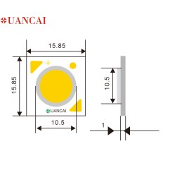 10w cl 15 85 15 85 11 citizen size cob led chip us bridgelux 140 150lm w high brightness good quality used in grille lamp [ 1000 x 1000 Pixel ]